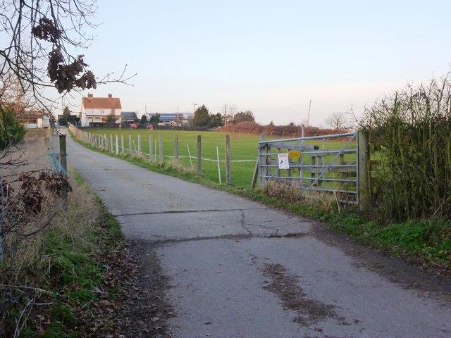 Access road from Borwick Lane