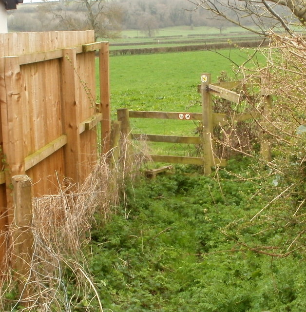 Stile to a footpath from Caerwent to Highmoor Hill