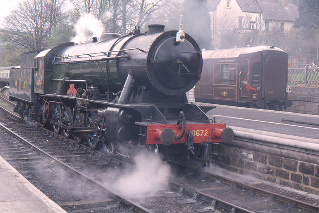Grosmont station, North Yorkshire Moors railway, WD 2-10-0