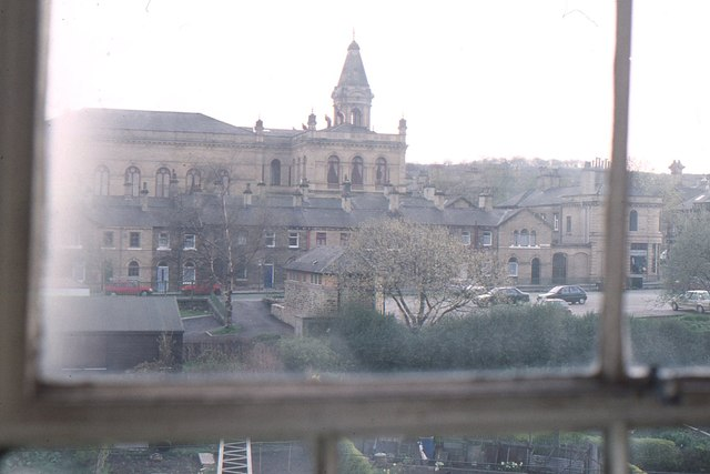 Saltaire: the town seen from within Salt's Mill