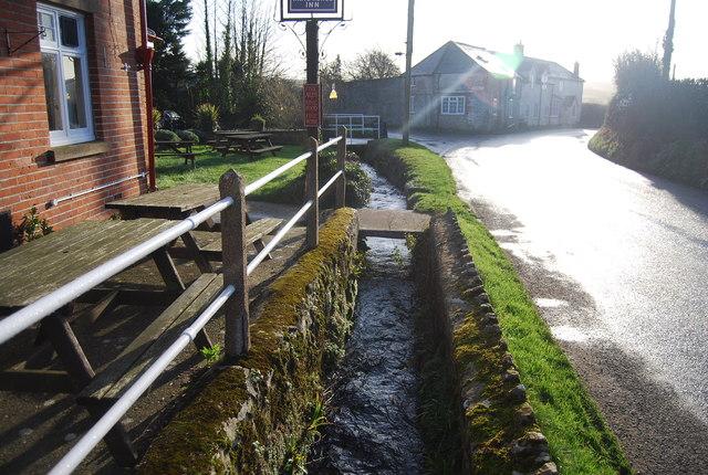 Stream outside the White Horse Inn