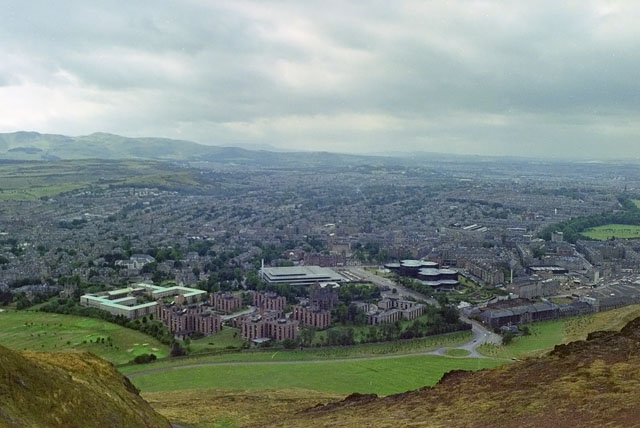 View south-west from Arthur's Seat, 1984
