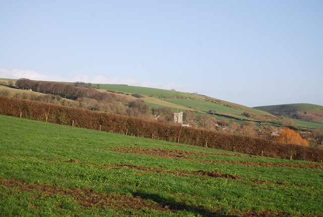 View towards Litton Cheney Church