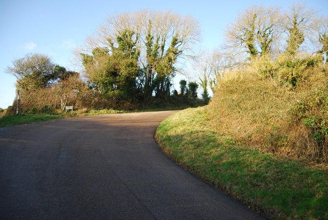 Sharp bend, Chalk Pit Lane