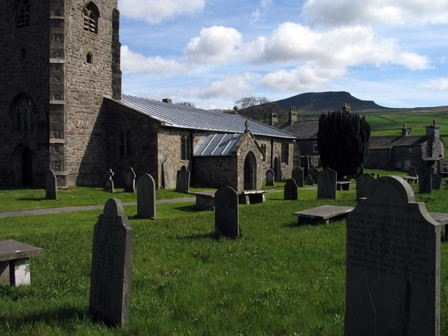 Graveyard at St. Oswald's Church, Horton in Ribblesdale