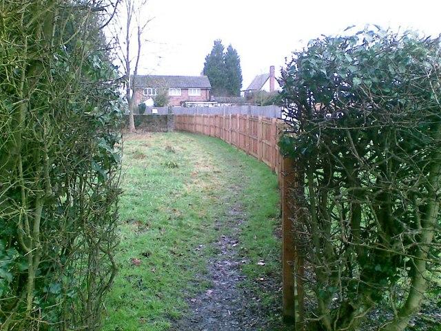 Path adjacent to school, High Cross