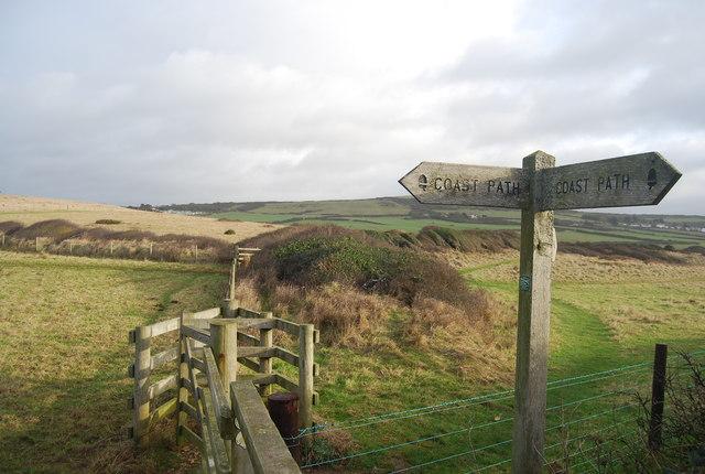 Sign, South West Coast Path