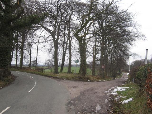 Oak Road/Shaws Lane junction Mottram-St-Andrew