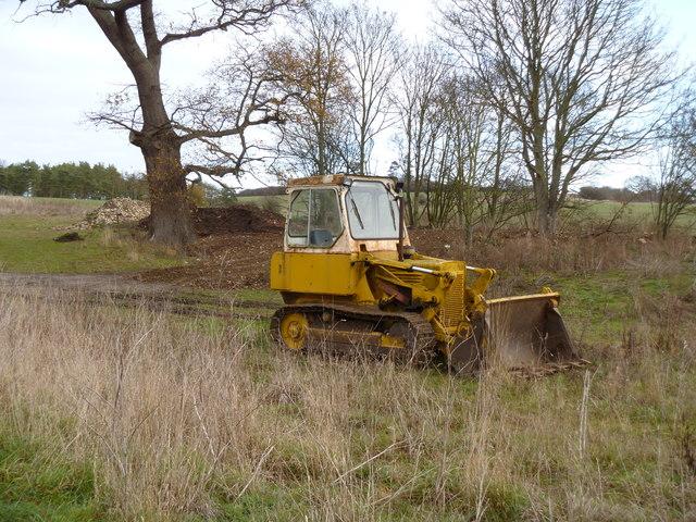 Dozing bulldozer