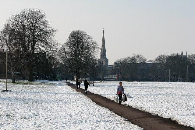 Snow on Midsummer Common