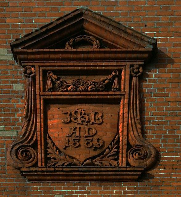 Elaborate date plaque, Greenland Road, Camden Town