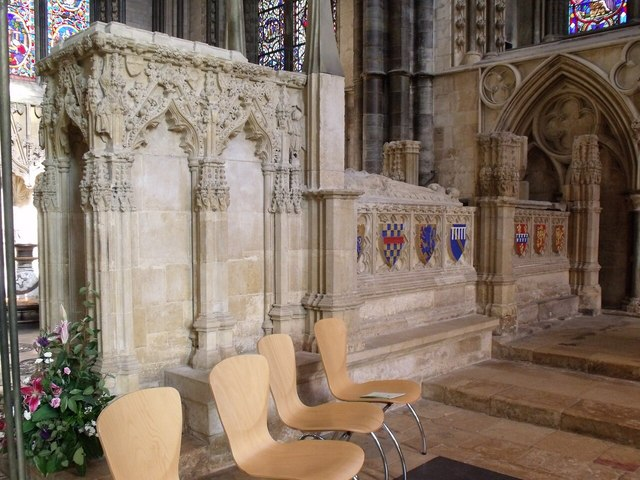 St Hugh's plinth and Burghersh tombs, Lincoln Cathedral