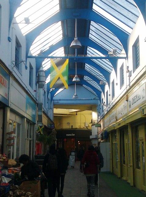 Jamaican flag, Brixton Village Market, Atlantic Road SW9