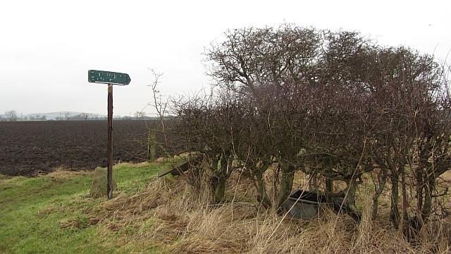 End of Sandy Kirn path