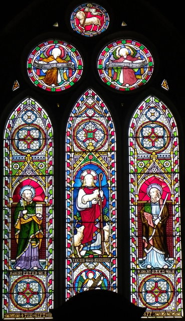 Stained glass window, All Saints Church