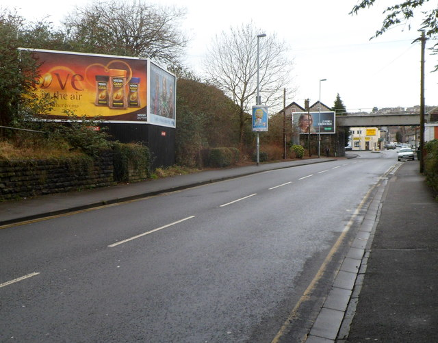 Advertising hoardings, Caerleon Road, Newport