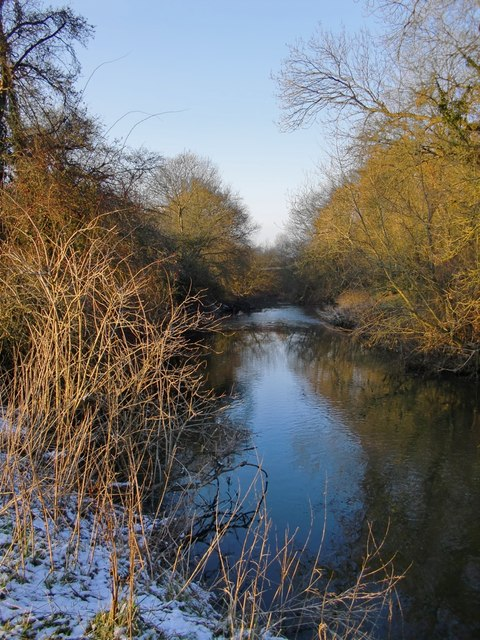 The River Mole, south of the A246
