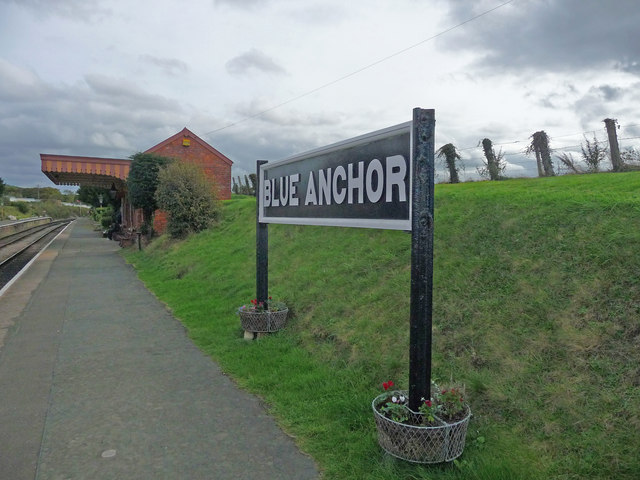 Blue Anchor - Blue Anchor Station Sign