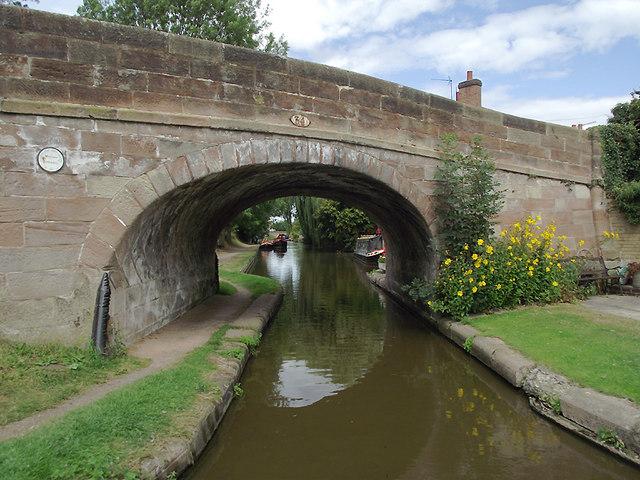 Boat Inn Bridge at Gnosall Heath, Staffordshire