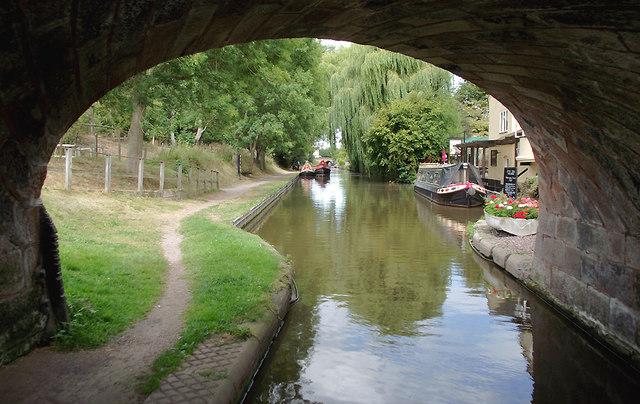 Shropshire Union Canal at Gnosall Heath, Staffordshire
