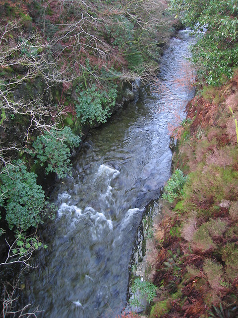 Ystwyth gorge upstream of the Miners' Bridge, Pont-rhyd-y-groes
