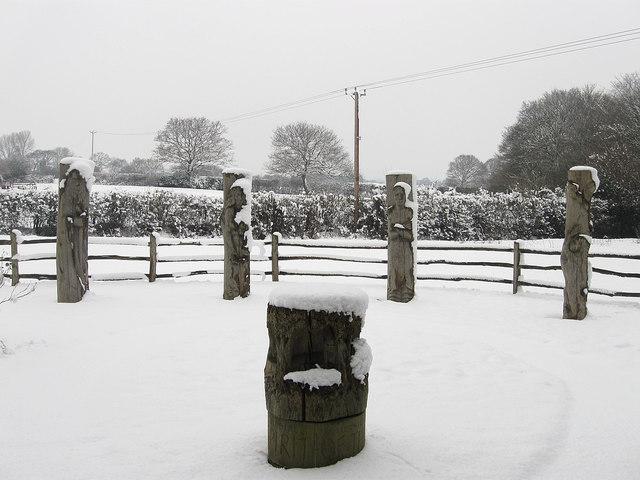 Chiddingly Millennium Garden in the Snow