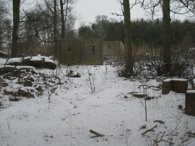 Remains of RAF Ingham  in Hare's Wood