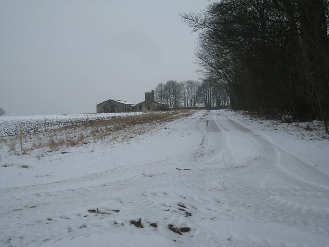 Remains of RAF Ingham by Hare's Wood