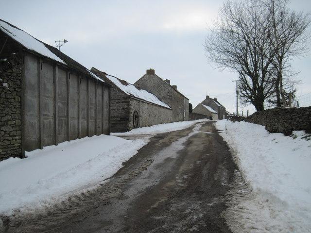 Headland  Lane  and  East  Brow  House  Farm