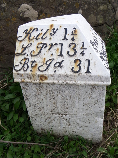 Milestone and bench mark, Barnsmuir