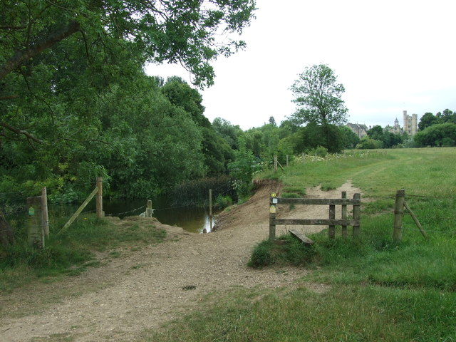Stile By 'The Trunk Hole', River Stour