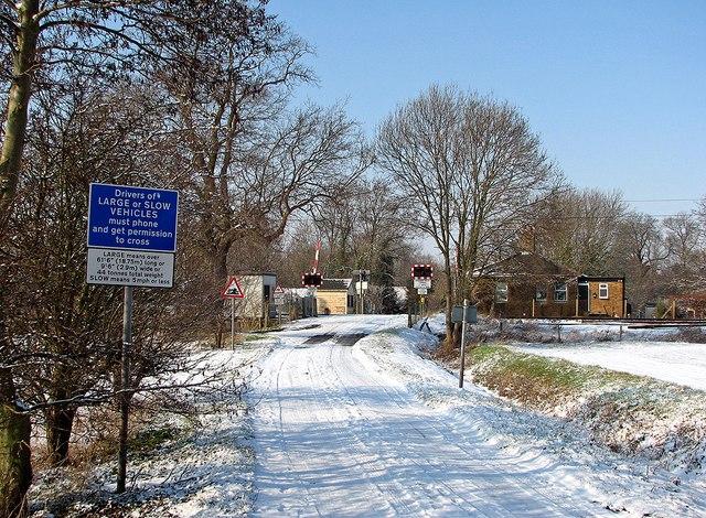 Fen Road level crossing