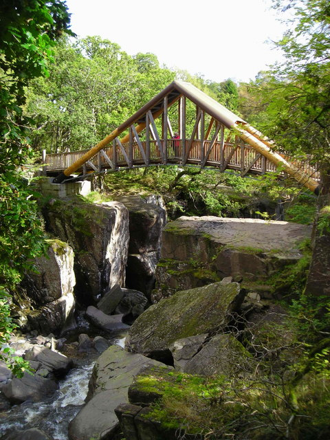 Bridge at Bracklinn Falls