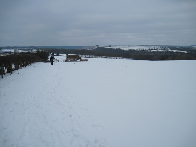 Over  the  snow  to  Farwath  Hill  top  Farm