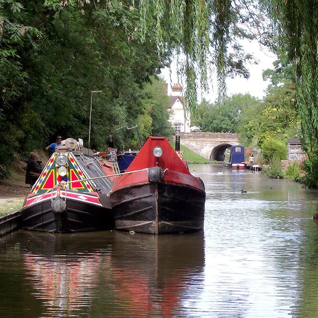Working narrowboats at Gnosall Heath, Staffordshire