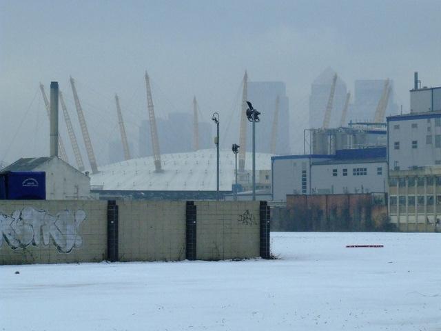 Snow scene at West Silvertown