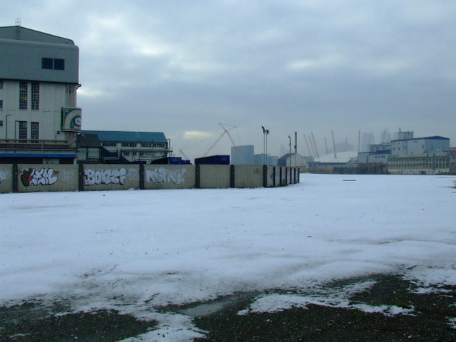 Snow scene at West Silvertown
