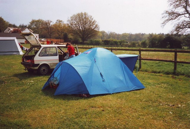 Dome tent, Red Shoot Inn Caravan and Camping site, Linwood