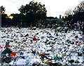 TQ2579 : Floral tributes at Kensington Palace by Steve Daniels
