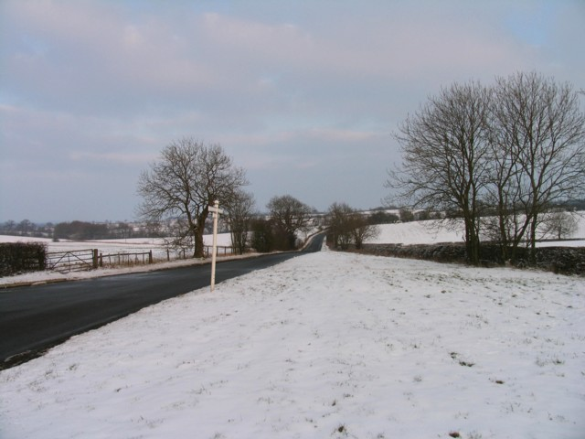 Cold Overton Road towards Oakham