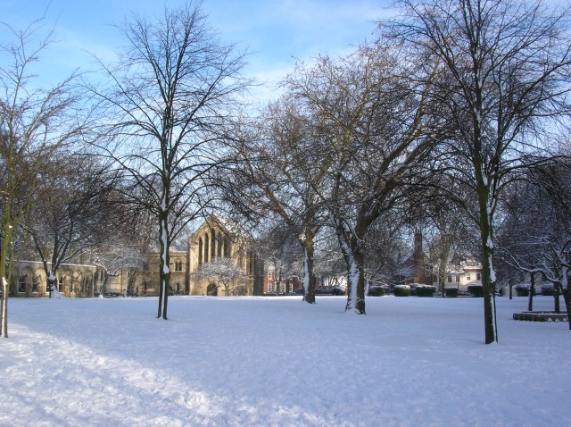 Towards the Minster library