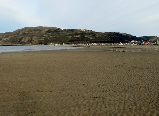 View back towards the Great Orme and Llandudno