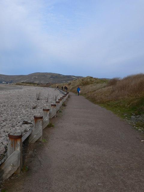 The All Wales Coastal Path between Deganwy and Llandudno.