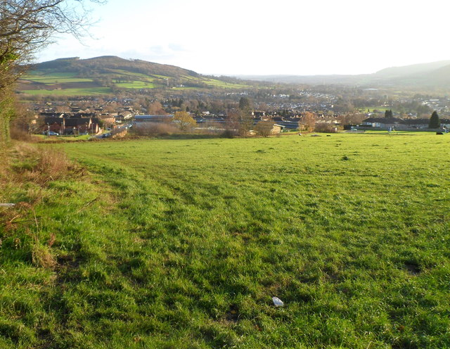 Northern Abergavenny viewed from Deri Road