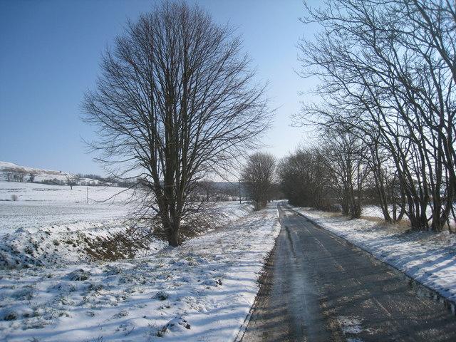 Pelham Road in the snow