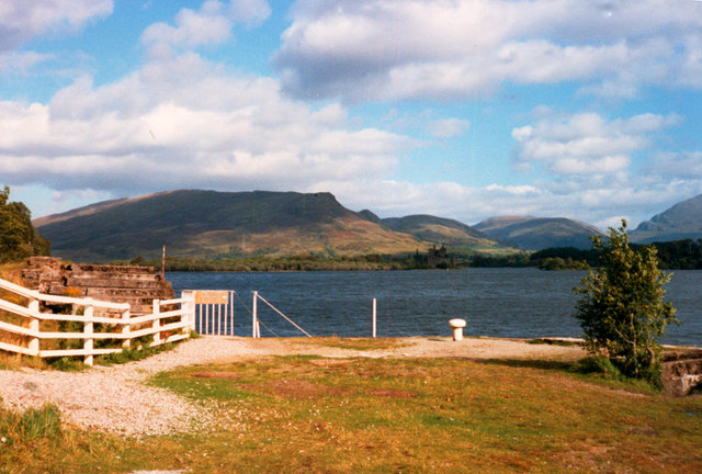 Landing stage on Loch Awe
