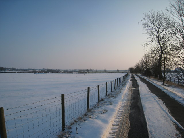 The lane to Winghale Priory