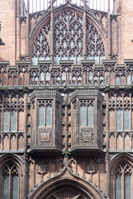 Detail of John Rylands Library, Deansgate, Manchester
