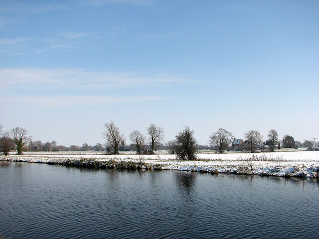 The Cam near Biggin Abbey in February