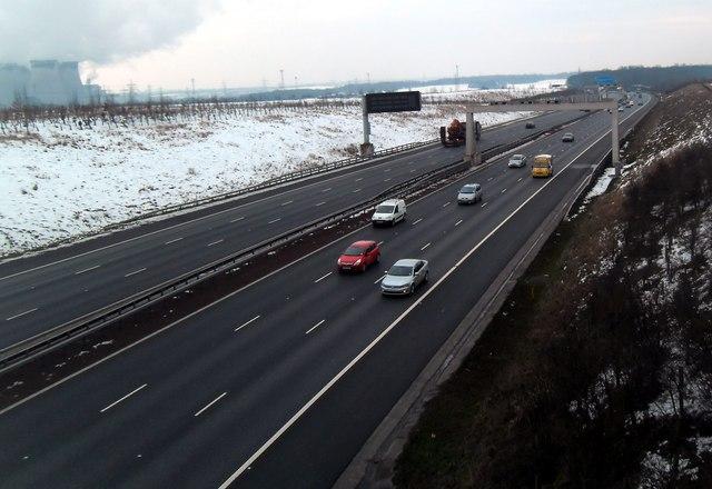 A1M Motorway at Fairburn.